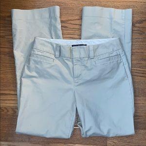 GAP curvy 12 tan pants wide leg LONG flat front